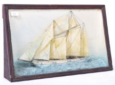 19TH CENTURY VICTORIAN NAUTICAL SHIP DISPLAY DIORAMA