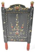 19TH CENTURY VICTORIAN HAND PAINTED WOODEN PLANTER OF SQUARE FROM