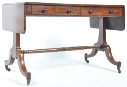 EARLY 19TH CENTURY GEORGIAN REGENCY PERIOD MAHOGANY SOFA TABLE