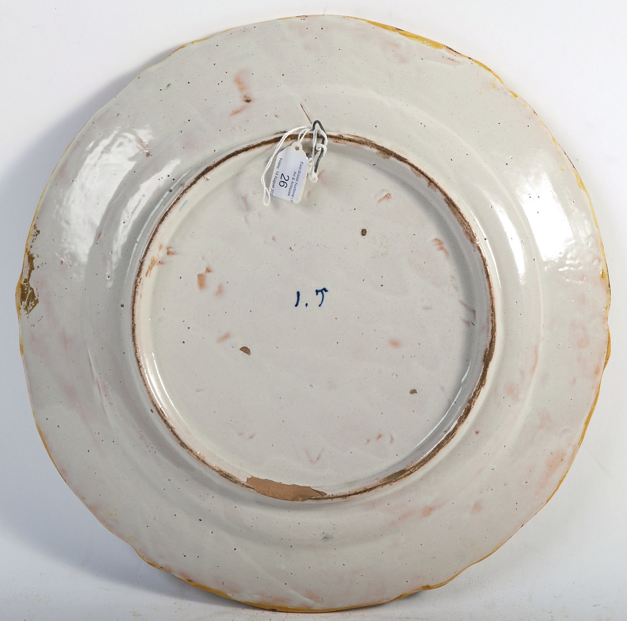 Lot 26 - 18TH CENTURY ITALIAN ANTIQUE POLYCHROME MAIOLICA WALL CHARGER