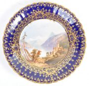 19TH CENTURY COPELAND LAKE OF THUN CABINET PLATE