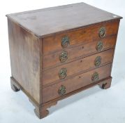 18TH CENTURY GEORGE III MAHOGANY BACHELORS CHEST