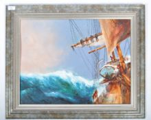 DAVID CHAMBERS - OIL ON BOARD SEASCAPE PAINTING OF