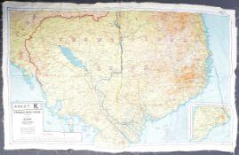 MI9 ESCAPE & EVADE - WWII SILK ESCAPE MAP OF SIAM