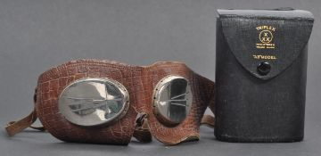RARE PAIR OF TRIPLEX MODEL A3 MOTORCYCLE GOGGLES