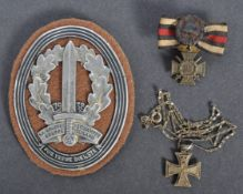 WWI FIRST WORLD WAR GERMAN MINIATURE MEDALS - IRON CROSS