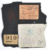ORIGINAL WWII SECOND WORLD WAR FIELD POST PARCEL WRAPPER