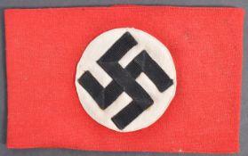 ORIGINAL WWII SECOND WORLD WAR NAZI PARTY CLOTH ARMBAND