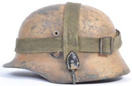 WWII SECOND WORLD WAR GERMAN M40 CAMO HELMET