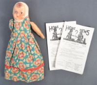 1940'S CHILD'S / EVACUEE'S TOPSY TURVY DOLL & HOME