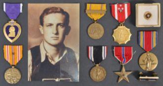 ORIGINAL WWII SECOND WORLD WAR USA MARINE CORPS MEDAL GROUP