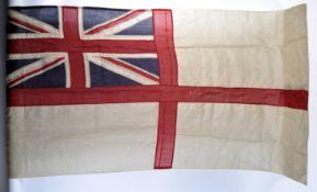 RARE WWII SECOND WORLD WAR NAVY WHITE ENSIGN HMS G