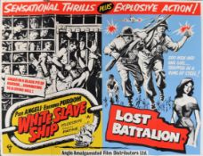 THE LOST BATTALION / WHITE SLAVE SHIP ORIGINAL UK QUAD POSTER