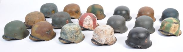 COLLECTION OF GERMAN M42 HALF SCALE MODEL HELMETS