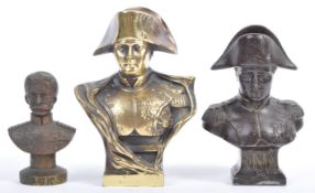 COLLECTION OF THREE MILITARY ANTIQUE BUSTS