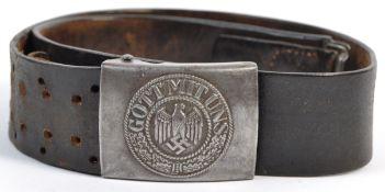 WWII SECOND WORLD WAR GERMAN ' GOTT MIT UNS ' BELT