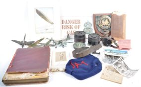 COLLECTION OF ASSORTED MILITARIA - MODELS, AUTOGRA