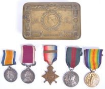 WWI FIRST WORLD WAR MEDAL GROUP TO DRIVER IN ROYAL
