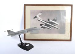INCREDIBLY RARE BRISTOL TYPE 188 SUPERSONIC AIRCRAFT MODEL