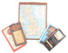 COLLECTION OF VINTAGE ROAD MAPS - 1930'S / 50'S ET