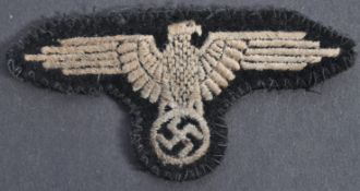 WWII GERMAN NAZI SS CLOTH EAGLE BADGE / PATCH