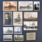 WWII NAZI KRIEGSMARINE PERSONAL PHOTOGRAPHS & POSTCARDS