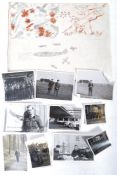 WWII SECOND WORLD WAR RAF SKETCHBOOK & RELATED PHO