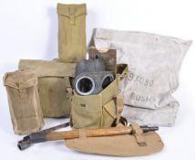COLLECTION OF WWII BRITISH ARMY UNIFORM ITEMS AND