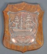RARE COPPER PLAQUE MADE FROM NELSON FLAGSHIP COPPER