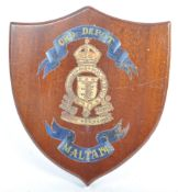 WWII 1945 ROYAL ARMY ORDNANCE CORPS WALL PLAQUE