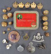 SCARCE WWII LRDG / AFRICA ' RHODESIA ' CAP BADGE &