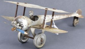 RARE WWI BURNETT OF LONDON MADE ' JOEY ' BI-PLANE