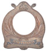 WWII FIRST WORLD WAR HMS TITANIA CARVED WOODEN FRA