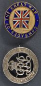 TWO WWI FIRST WORLD WAR RELATED VETERAN'S BADGES