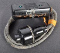 DAMBUSTERS - RARE SIGNED ORIGINAL BOMB RELEASE SWITCH