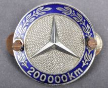 RARE VINTAGE MERCEDES BENZ ' 200,000 KM ' GRILL BADGE