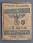 THIRD REICH GERMAN SS PANZER DIVISION SOLDIER'S ID BOOK