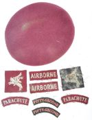 WWI AIRBORNE INTEREST - BERET & COLLECTION OF PATC