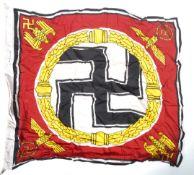 WWII SECOND WORLD WAR FUHRER STANDARD LINEN FLAG