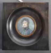 CHARMING 19TH CENTURY PORTRAIT MINIATURE OF A CAVALRY OFFICER