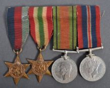 WWII MEDAL GROUP - 5186748 PRIVATE A. BENNET OF BRISTOL