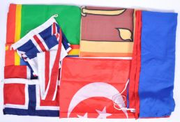COLLECTION OF ASSORTED 20TH CENTURY FLAGS