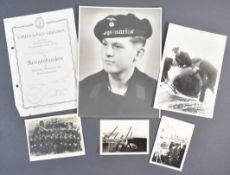ORIGINAL WWII GERMAN KRIEGSMARINE EPHEMERA TO HEINRICH MULLER