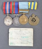 WWII SECOND WORLD WAR MEDAL GROUP - CANADIAN INTEREST