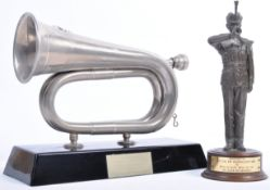 SOMERSET LIGHT INFANTRY PRESENTATION BUGLE & FIGURE