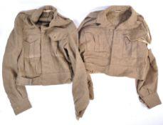 TWO 1940'S PATTERN BRITISH ARMY DRESS TUNICS