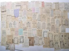 VICTORIAN EPHEMERA COLLECTION - LARGE COLLECTION OF THEATRE PROGRAMMES