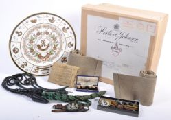 COLLECTION OF ITEMS FROM THE LATE MAJOR EW HERRINGTON MBE