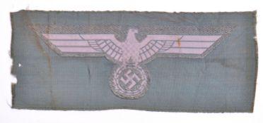 ORIGINAL WWII SECOND WORLD WAR NAZI BEVO CLOTH EAGLE