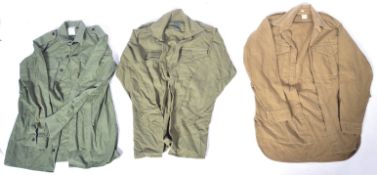 COLLECTION OF ASSORTED WWII TYPE UNIFORM ITEMS